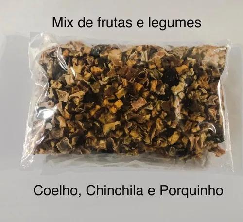 Mix de frutas e legumes para chinchila coelho e porquinho