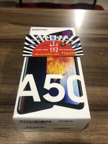 Oferta loja japacell a50 64gb lacrado 1 ano de garantia