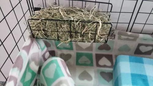 Porta feno para cercados de roedores, cor branco