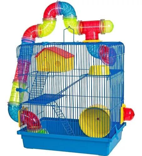 Promoção gaiola hamster 3 andares play ground com