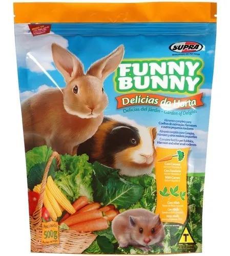 Ração hamster, porquinho da índia funny bunny - 12un x