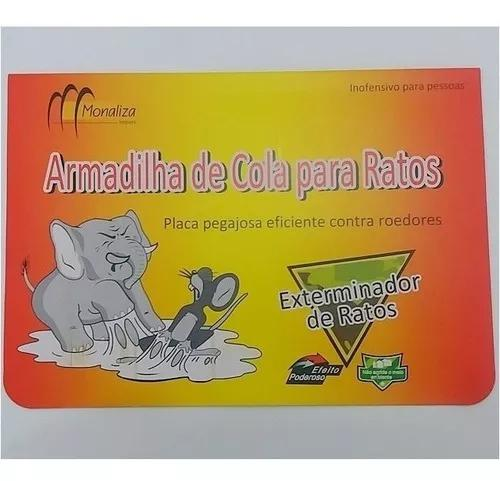 Ratoeira adesiva cola pega rato barata inseto 25x18cm 10un
