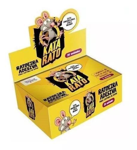 Ratoeira adesiva kata rato barata e insetos caixa com 20