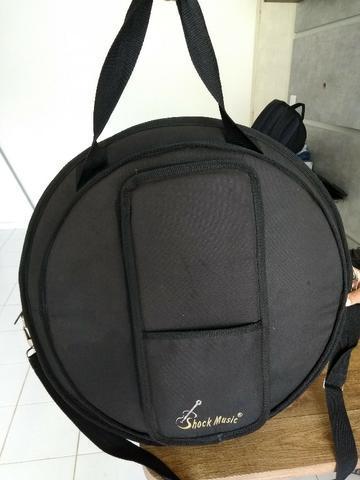 Bag capa para pratos com porta baquetas e alças shock