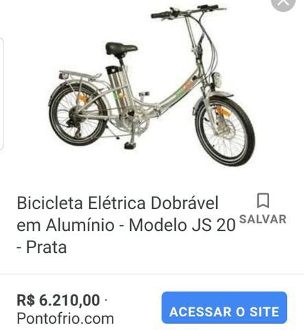 Bicicleta elétrica dobrável incrível
