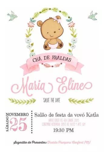 Convite digital chá de bebê - vários modelos
