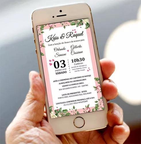 Convite digital para whatsapp e e-mail
