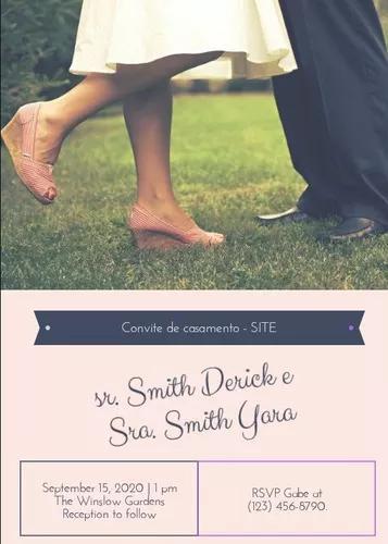 Criaçao de site com fotos tiradas no casamento (exposiçao)
