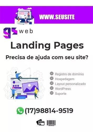 Criação de site e landing page - profissional