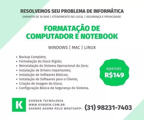 Formatação de notebook e computador todas as marcas