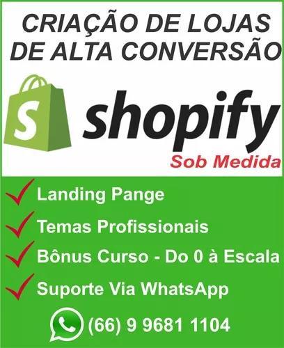 Loja shopify dropshipping com landing page (orçamento)