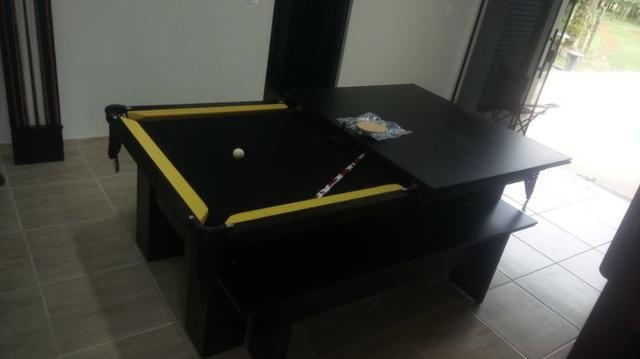 Mesa charme faça o pedido cor preta tecido preto e borda