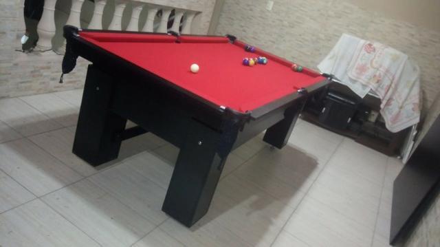 Mesa charme redinha cor preta tecido vermelho mod. zbuc0473
