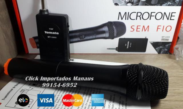 Microfone sem fio tomate mt-2203 wireless entregamos e