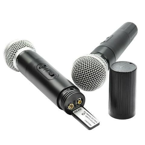 Microfone sem fio wireless duplo knup kp-912, aceitamos