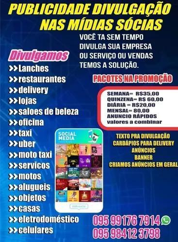 Publicidade e divulgação de anuncios de vendas e serviços