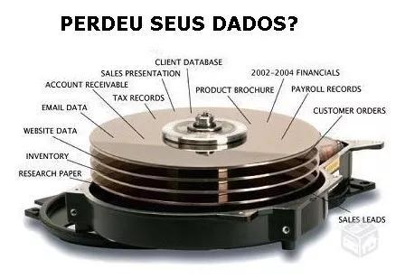 Recuperaçao de dados a partir de r$ 30,00 a mais barata.