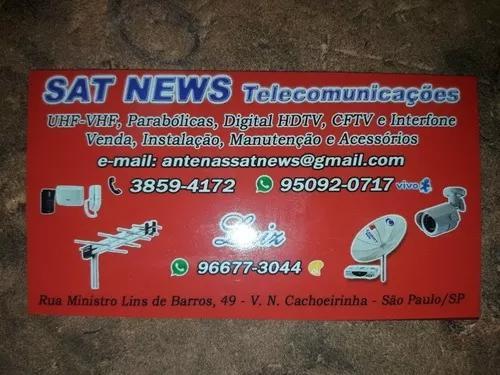 Técnico instalação de antenas parabólicas ku câmeras