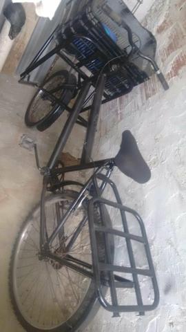 Uma bicicleta de carga