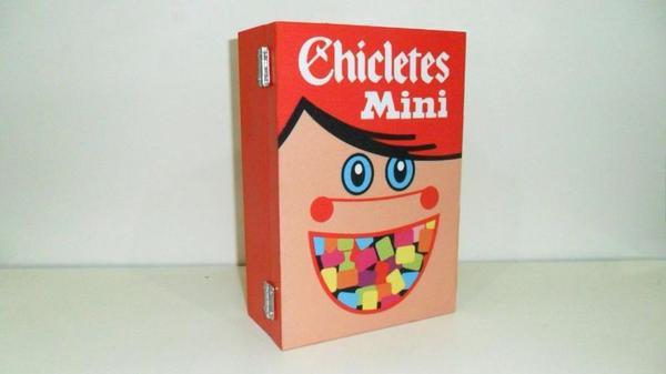 Caixa decorativa com tema retrô - Chicletes Mini