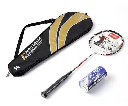 Badminton conjunto de raquete ultraleve fibra de carbono bam