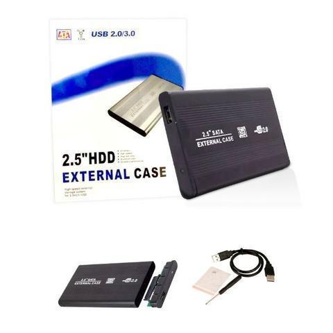 Case hd externo sata 2.5 hdd notebook usb gaveta alumínio