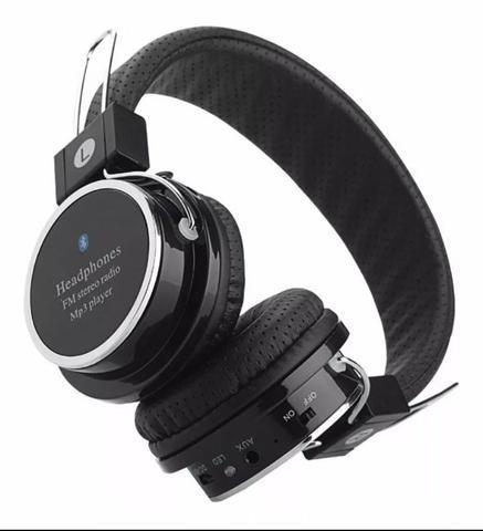 Fone de ouvido headphone sem fio micro sd fm bluetooth.