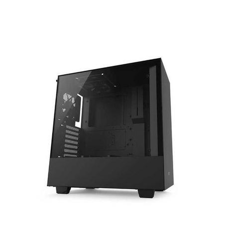 Gabinete nzxt - gamer h500b window glass preto - loja fgtec