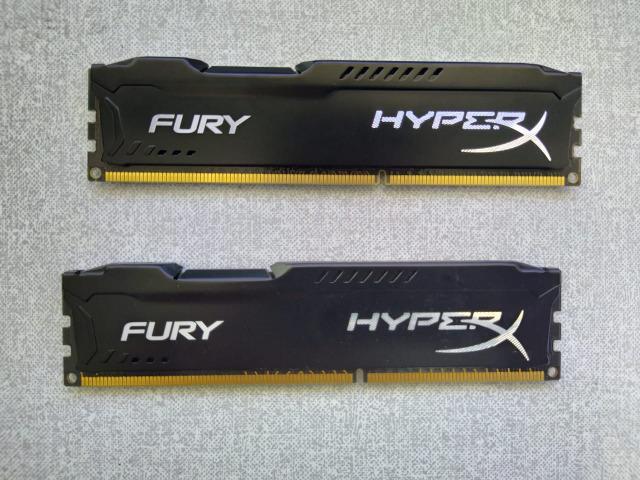 Memoria hyperx fury, 4gb, 1600mhz, ddr3