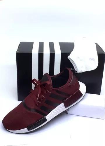 Tênis adidas nmd runner r1 promoção leve par de meias