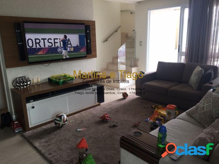 Cobertura duplex de 215 m² 4 dormitórios - vila betânia