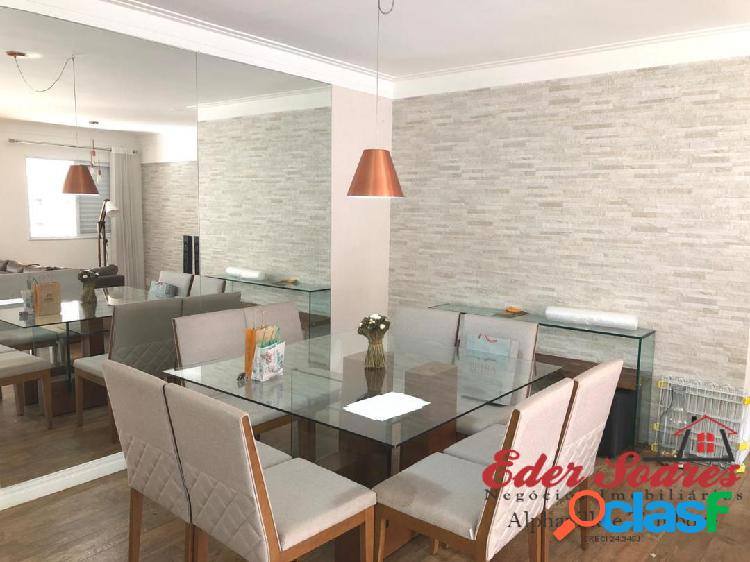 Alugue Apartamento com 2 suítes e Sala Estendida no Alpha Style 1