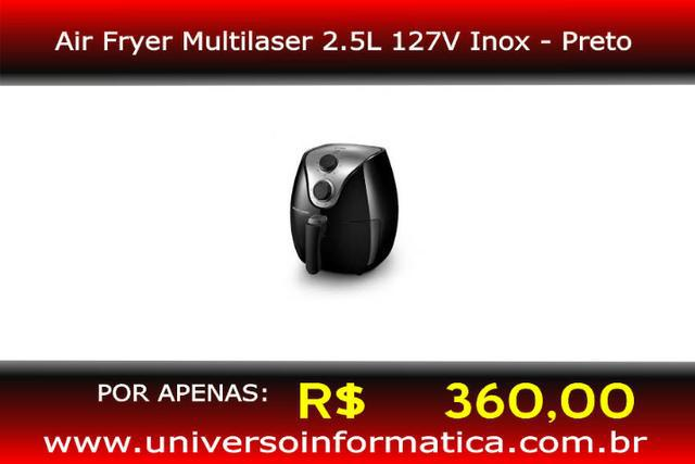 Air Fryer Multilaser CE13 1500W 2.5L 127V Inox/Preto