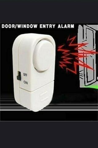 Alarme s/fio com sensores magnéticos para portas e janelas