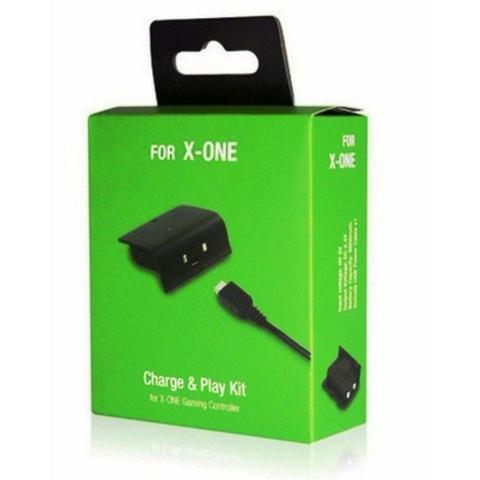 Bateria e cabo carregador para controle xbox one charge e