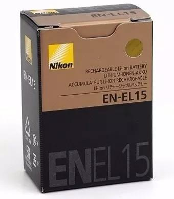 Bateria en-el15 nikon d7000 d7100 d7200 d800 enel15