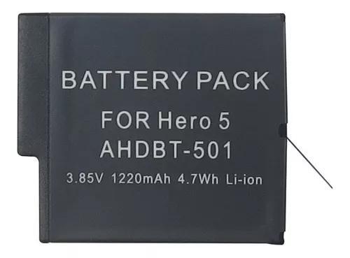 Bateria gopro hero5 hero6 hero7 - 3.85v 1220mah - ahdbt-501