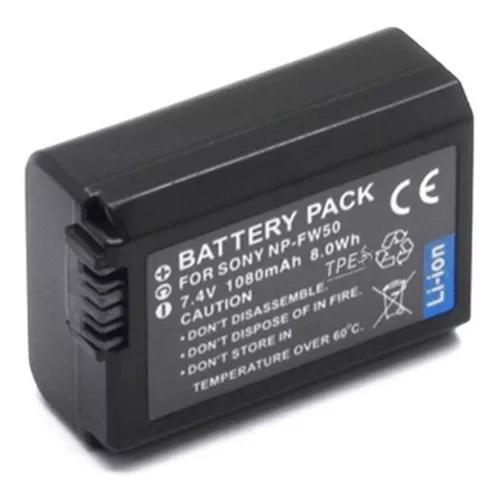 Bateria np-fw50 para câmera sony nex-3, nex-3a, nex-3d,