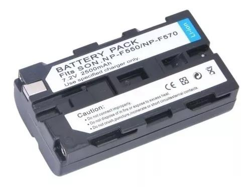 Bateria para câmera e iluminador led np-f550 np-f330