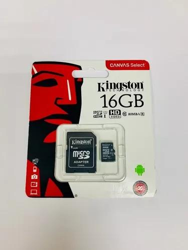 Cartão micro sd 16g classe 10 kingston 100% original c/adap