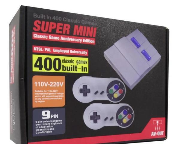 Console super mini classic game com 400 jogos* nintendo*