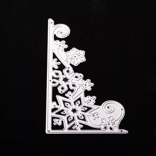 Floco de neve forma corte morre diy aço carbono morrer scra