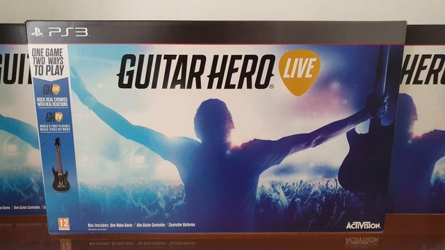 Guitar hero live com jogo para ps3 novo lacrado