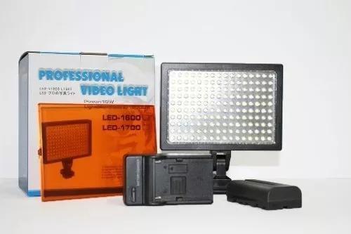 Iluminador 170 leds+carregador+bateria f570 pronta entrega