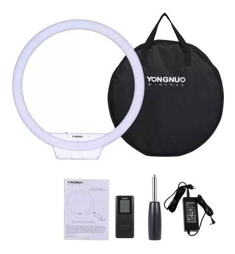 Iluminador ring light yongnuo yn608 + fonte + tripé 2.1m