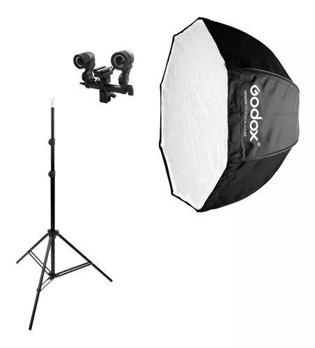 Kit softbox godox 120cm octabox p flash lâmpada luz