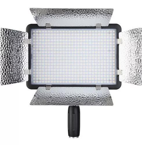 Led godox 308 ll c video light +fonte 3300-5600k +tripé 2