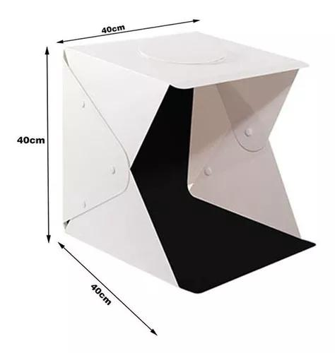 Mini estúdio fotográfico portátil iluminação 70 led