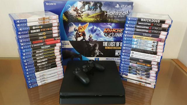 Playstation 4 slim com garantia - aceitamos ps3 mais volta