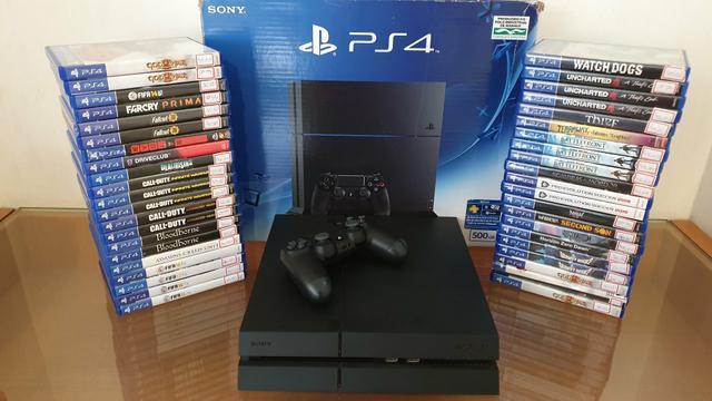 Playstation 4 com garantia - aceitamos playstation 3 mais
